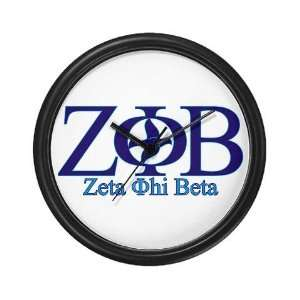 Zeta Phi Beta Sorority Wall Clock by CafePress: Everything