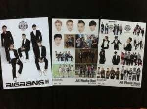 BIG BANG BIGBANG COLLECTION PHOTOBOOK + 2 STICKERS