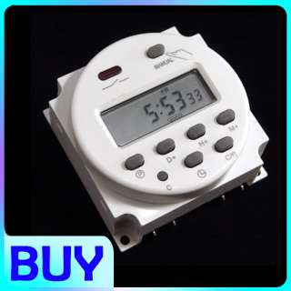 12V Digital LCD Power Programmable Timer Time switch Relay 16A