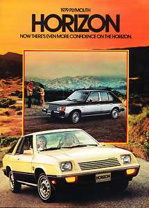 1979 Plymouth Horizon Original Sales Brochure Book TC3