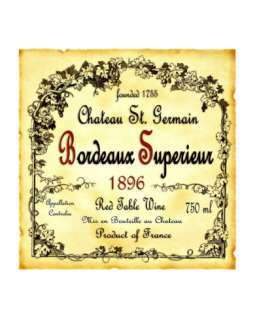 Bordeaux Wine Label Giclee Print at AllPosters