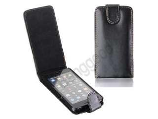 Black Flip Leather Case for Samsung Galaxy S2 SII i9100