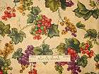 Vineyard Grape Vine Fruit Grapes Wine Country Cranston Cotton Fabric 1
