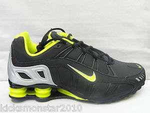 Nike Shox Turbo 3.2 Black and Lime Green NZ R4 Black Running sneakers