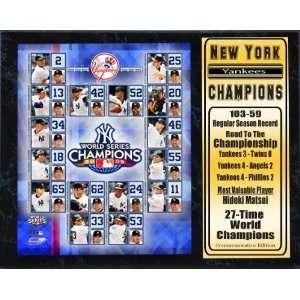 2009 New York Yankees World Series Champions Team