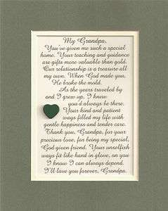 GRANDPA Grandfathers PATIENT Guidance TREASURE verses poems plaques