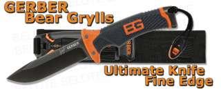 Gerber Bear Grylls Ultimate Knife Fine Edge Fixed Blade + Nylon Sheath