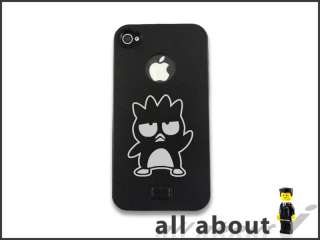 Phone 4 4S Metal Case With Badtz Maru XO Cartoon Logo Aluminum