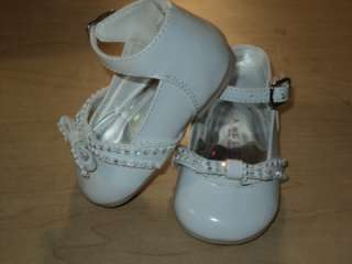 Baby Girls White Patent Leather Dress Shoes/ Size 2