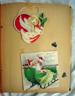 vintage SCRAPBOOK greeting cards VALENTINE CHRISTMAS