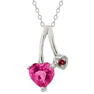 0.91 Ct Heart Shape Pink Mystic Topaz and Diamond Sterling