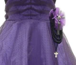 Gothic Hell Bunny Purple Black Harmony Satin Punk Tattoo Formal Prom
