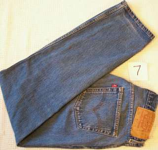 501 Button Front blue Denim Jeans 32x32 Levis Red Tab made USA
