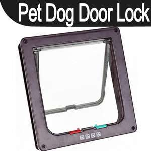 New 4Way Pet Cat Dog Flap Door Lock Safe Lockable Small
