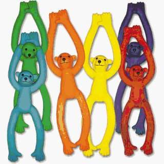Physical Education Games Critters   6 Color Rubber Monkeys