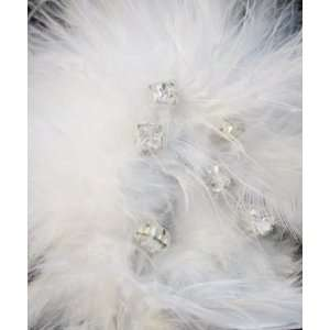 NEW White Feather Rhinestone Hair Clip and Pin, Limited. Beauty