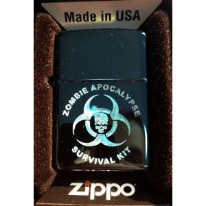 Zippo Custom Lighter   Biohazard Toxic Zombie Apocalypse Survival KIT