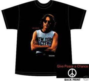 John Lennon New York City T Shirt Size XL