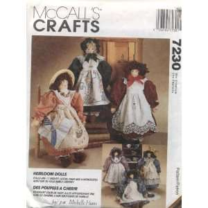 Crafts Heirloom Dolls Sewing Pattern #7230 Arts, Crafts & Sewing