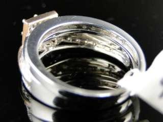 14K WOMENS WHITE/ROSE GOLD ENGAGEMENT WEDDING DIAMOND RING BAND