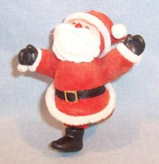 VINTAGE CHRISTMAS ORNAMENT~SKIPPING SANTA~RED SUIT~
