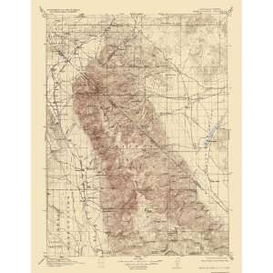 USGS TOPO MAP WHITE MOUNTAIN QUAD CALIFORNIA (CA/NV) 1917