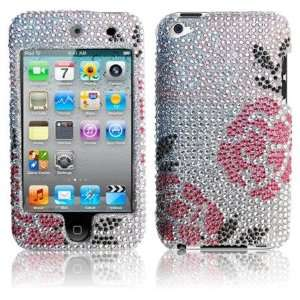 Premium   Apple Ipod Touch 4th Full Diamond Protex Winter Rose