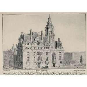 1903 New York Print William Andrews Clark House   Original