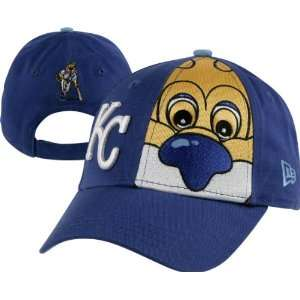 Kansas City Royals Kids New Era Big Mascot 9Forty Adjustable Hat