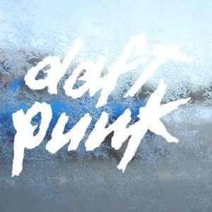 Daft Punk White Decal Rock Band Car Window Laptop White