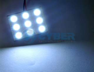 Panel SMD 9 5050 LED Interior Dome Door Car Light Bulb