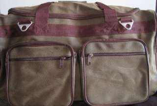 Embassy Leather Travel Carry On Duffle Bag/Luggage