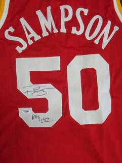 RALPH SAMPSON AUTOGRAPHED SIGNED ROCKETS JERSEY ROY 1984 PSA/DNA