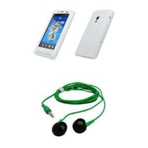 Sony Ericsson Xperia X10 White Silicone Skin Case Cover Cell Phone