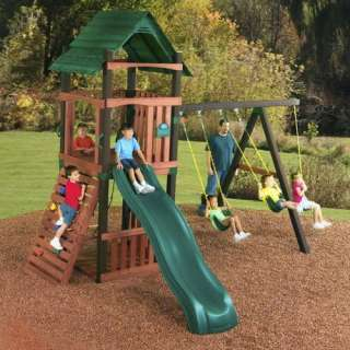 Swing N Slide Cimarron Wood Swing Set Outdoor Play