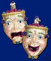 COMEDY/TRAGEDY MASK OLD WORLD CHRISTMAS ORNAMENT 36079