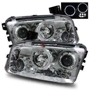 06 10 Dodge Charger Halo Projector Headlights   Black