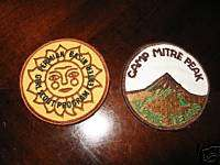 Vintage 1970s Girl Scout Camping Event Patches Lot of 2