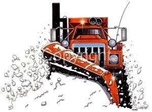 Snow Plow Sander Big Rig Truck Cartoon Tshirt 9145