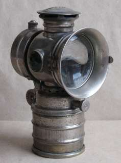 ANTIQUE NICKELED BRASS CARBIDE ACETYLENE BIKE LAMP VITAPHARE / 1920s