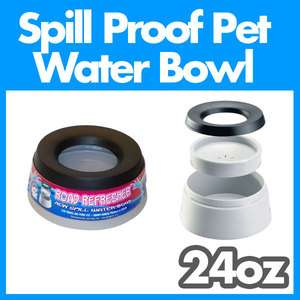 Road Refresher Dog Pet Spill Proof Water Bowl Dish 24oz