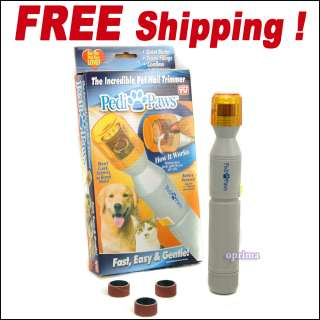 Nail Grinder Trimmer Dog Cat Grooming Painless Easy Carry Quite
