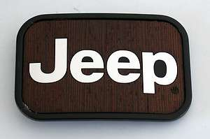 LICENSED JEEP WRANGLER 4 WHEEL SUV WOOD PLATE BELT BUCKLE