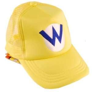 Super Mario Bros Wario Trucker Hat Yellow Toys & Games