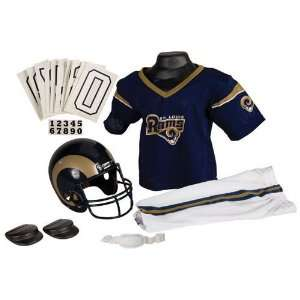 St. Louis Rams Youth Nfl Deluxe Helmet And Uniform Set