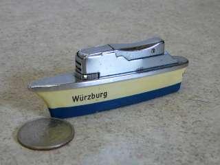 Old Wurzburg Sankei Butane Boat Ship Cigarette Lighter Table Lighter