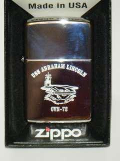 USS ABRAHAM LINCOLN ZIPPO LIGHTER BRAND NEW NAVY ISSUE