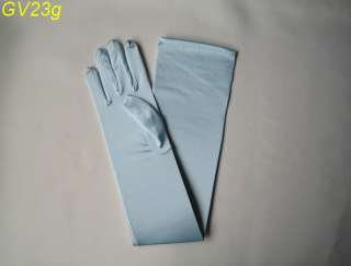 Wedding/Prom/Halloween 23 Long Satin Gloves #GV23