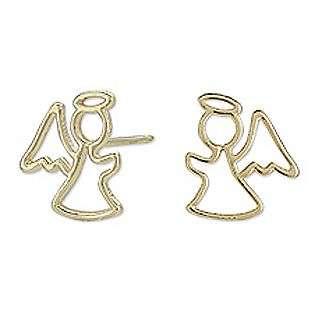 Angel Silhouette Stud Earrings  Jewelry Childrens Jewelry Earrings