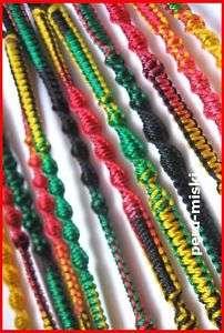 FRIENDSHIP BRACELETS 50 RASTA Handmade Wholesale Lot
